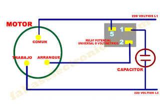 diagrama eléctrico conexión de refrigerador