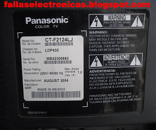 reparacion de tv no enciende panasonic