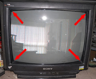 acoplar pantalla cinescopio de tv