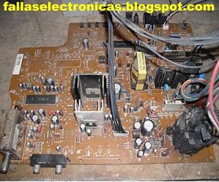 entrada conector de antena varicap tv lcd roto