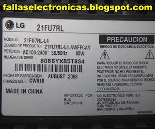 Tv ultra slim lg no enciende prende 21fu7rl eeprom for Mi televisor se escucha pero no se ve la imagen