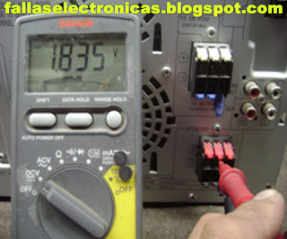 medicion de salidas de audio de equipo panasonic