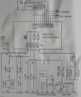 diagrama esquema nevera lg