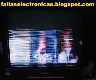 falla de imagen tv philips con rayas