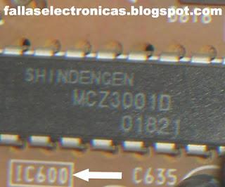 como reparar el circuito integrado MCZ3001D