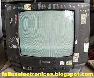 falla tv samsung pantalla blanca