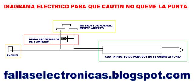 diagrama electrico para que no quema la punta del cautin