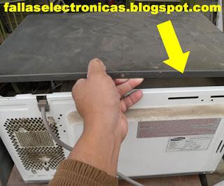 mantenimiento de microondas con cucaracha