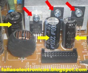 condensadores de tv lcd samsung