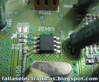 cambio de memoria de equipo de sonido sin audio