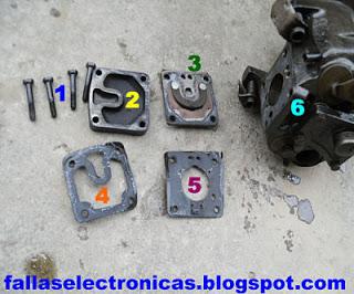partes y piezas de un compresor de nevera