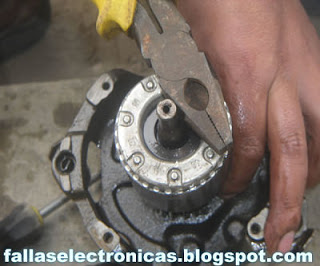 como retirar el rotor de motor de nevera