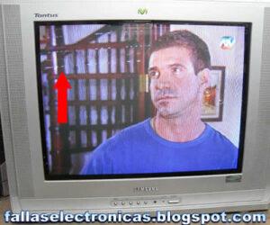 rayas blancas en pantalla plana samsung