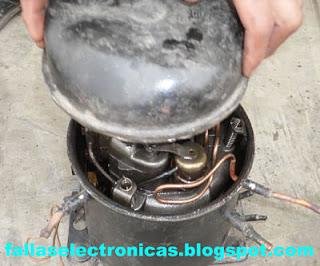 como abrir un compresor hermetico de refrigeración