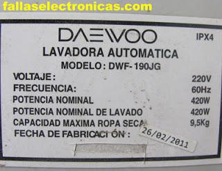 como solucionar error E1 y E2 en lavadora daewoo