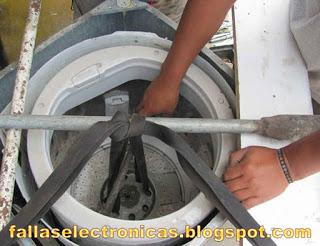 lavadora no sale tambor