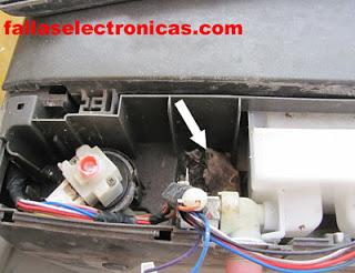 cableado comido por raton de lavadora electrolux