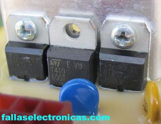 triac de motor de lavadora electrolux