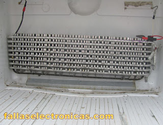 evaporador frigorifico indurama