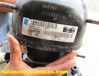 tutorial , reparación de moto-compresor de una nevera