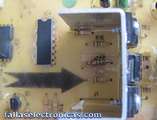 tarjeta quemada de lavadora electrolux