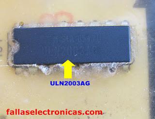 como cambiar uln2003 de placa de lavadora electrolux