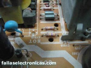 componentes electronicos de fuente tv