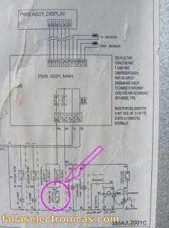 diagrama electrico de refrigerador lg