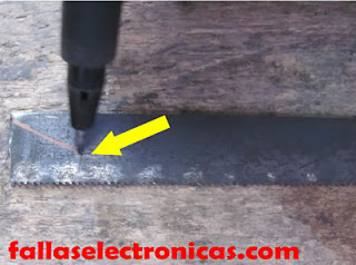 herramienta casera para quitar resina de placa