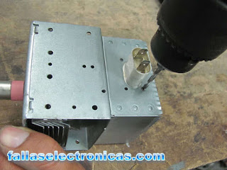 como reparar un magnetron derivado a masa
