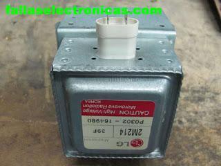 Reparar magnetron microondas