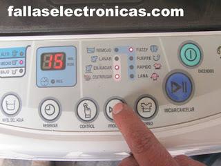 configurar centrifugado electrolux