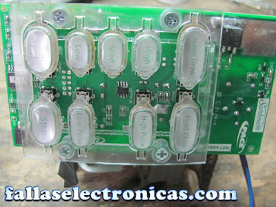 panel electronico de licuadora
