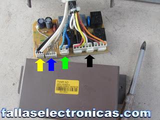 conexion tarjeta electronica refrigerador bosch