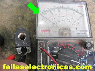medicion de bobina de solenoide de agua