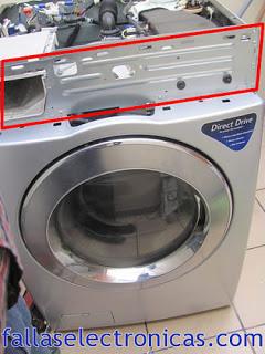 Error DHE y PF en lavadoras LG de carga frontal