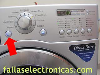 lavadora lg tromm no enciende