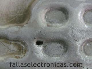 hueco de freezer echo con metal