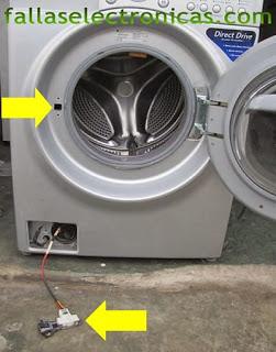 traba puerta quemado de lavadora lg tromm