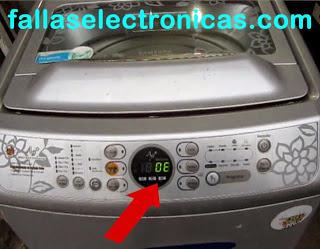 lavadora samsung error OE