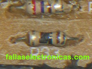 resistencias quemadas de la tarjeta electronica de lavadora