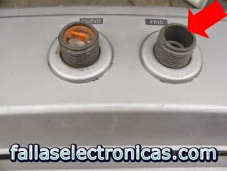 entrada de agua con falla de lavadora samsung