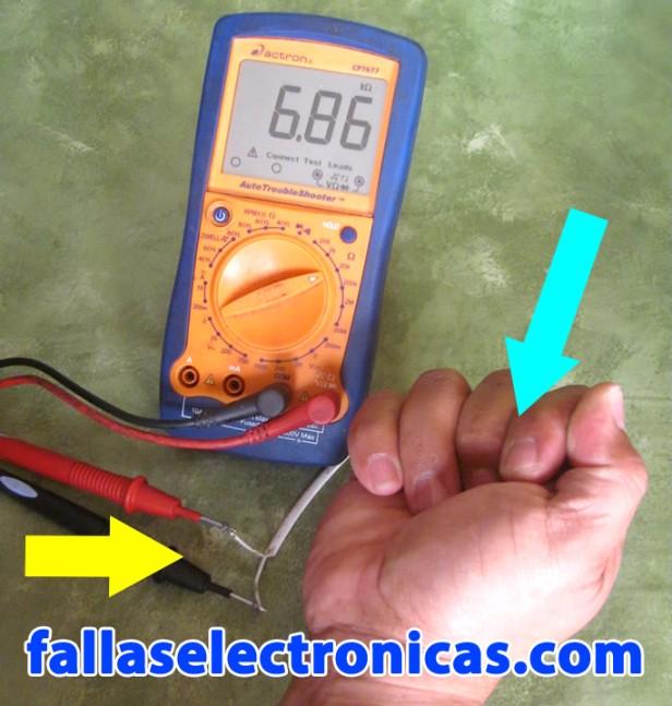 como probar un termistor o sensor ntc de nevera